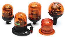 Luces rotativas y sus accesorios