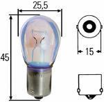 Hella 8GA002073241 - LAMPARA P25/1 12V 21W