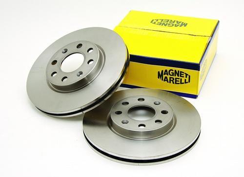 Discos y pastillas de freno Magneti Marelli.