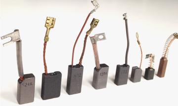 Escobillas de carbón para máquinas electroportátiles, carretillas, montacargas, motores y aplicaciones industriales.